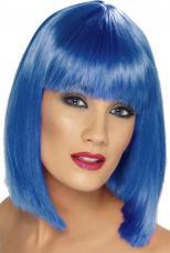 perruque glam bleue