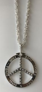 Collier Peace and Love Métal