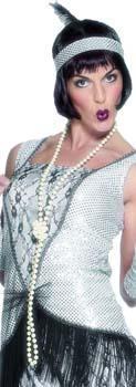 Collier perles Blanc Nacré Charleston
