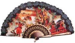 Eventail Andalou décoré