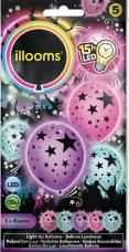 ballons multicolores lumineux (led) etoiles