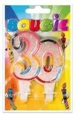 Bougie anniversaire 30 ans