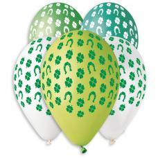 10 ballons vert trefles joyeuse saint patrick
