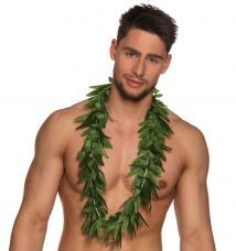 collier hawaien feuillage