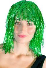 perruque metallisee verte