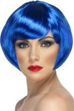 perruque courte bleu femme