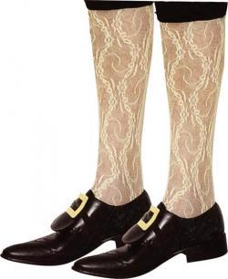 Chaussettes marquis ivoire dentelle