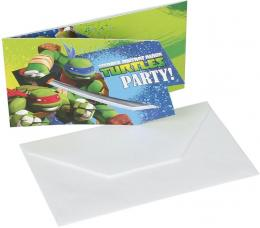 cartes invitation anniversaire tortues ninja