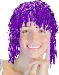 Perruque Métallisée Violette pas cher