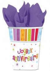 gobelets joyeux anniversaire luxe