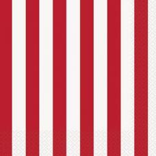 serviettes a rayures rouges et blanches
