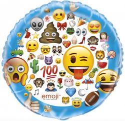 Ballon aluminium Emoji Smiley pas cher