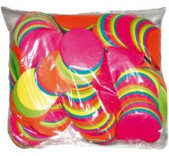 Confettis scene ronds multicolores