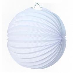 lampion rond blanc en papier pas cher