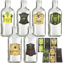 Autocollant halloween pour bouteille pas cher