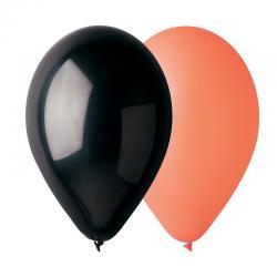 50 ballons noir et orange pas cher