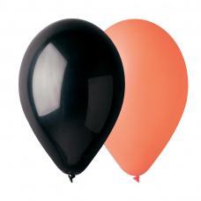 50 ballons noir et orange