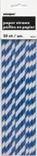 pailles rayures bleues et blanches
