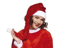 Bonnet de Noël rouge et long pas cher