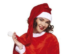 bonnet de noel rouge et long