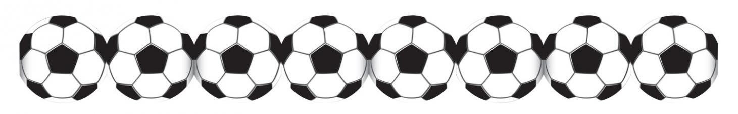 guirlande papier ballons football