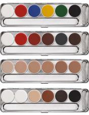 palette aquacolor kryolan 6 teintes