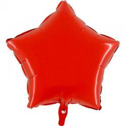 Ballon mylar étoile rouge en aluminium pas cher