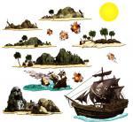 Set de 14 décors pirate