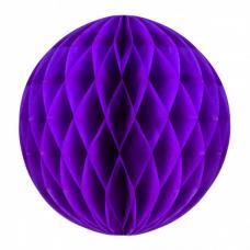 boule papier alveolee violet