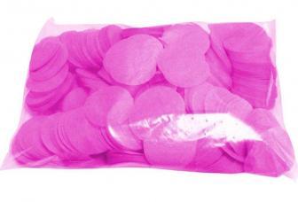 Confettis scene ronds fuchsia