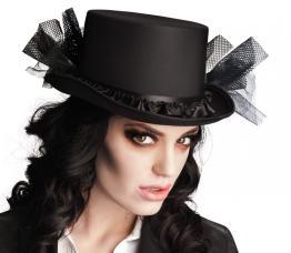 chapeau haut de forme vampiresse