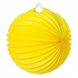 Lampion rond jaune en papier pas cher