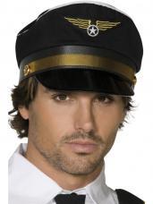 casquette de pilote noir adulte