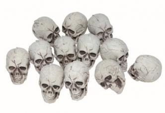 sachet de 12 crânes plastique