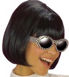 Perruque noire femme sixties pas cher