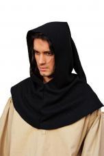 capuche noire medievale