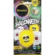 sachet de 5 ballons à led halloween