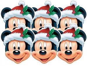 6 masques mickey noel