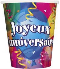 gobelets joyeux anniversaire
