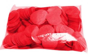 Confettis scene ronds rouge