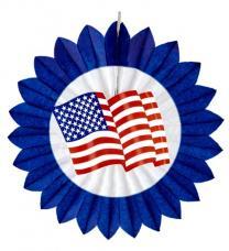 rosace drapeau usa bleu