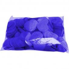 Confettis scene ronds bleu roi