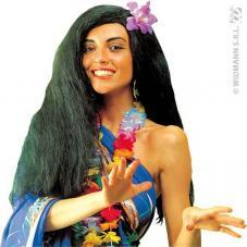 perruque hawaïenne pour femme