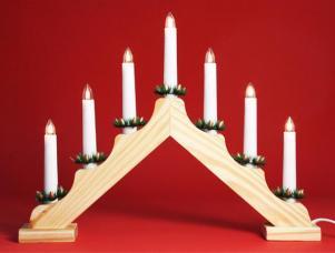 chandelier en bois avec 7 lampes
