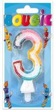 bougie anniversaire chiffre 3