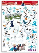 stickers electrostatiques reine des neiges olaf
