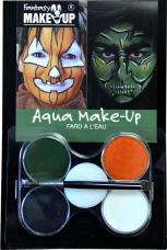 maquillage citrouille et sorciere