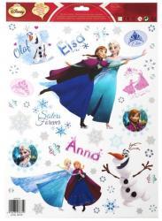 Stickers electrostatiques reine des neiges Anna et Elsa pas cher