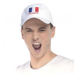 Casquette blanche drapeau France pas cher