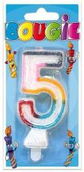 Bougie anniversaire chiffre 5 pas cher